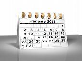 Desktop Calendar. January, 2011