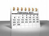 Desktop Calendar. February, 2011