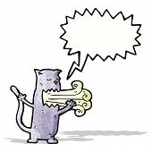 cat with bad breath cartoon