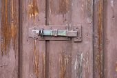 Latch on an old shed