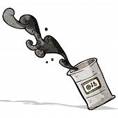 cartoon barrel  of oil