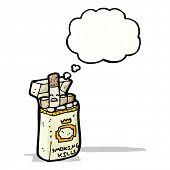 cartoon cigarette packet