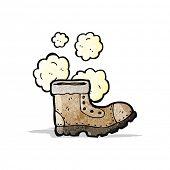 old work boot cartoon