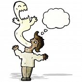 pic of possess  - cartoon ghost possessing man - JPG