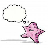 cartoon pink starfish