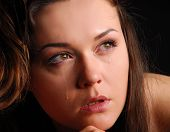 Praying woman in deprassion
