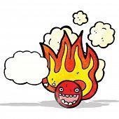 flaming face symbol