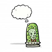 head in jar cartoon