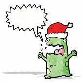 cartoon shouting christmas frog