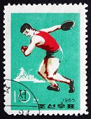 Postage Stamp North Korea 1965 Discus Throw, Sport