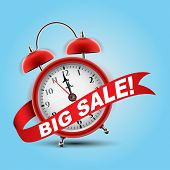 Red alarm clock concept - Big Sale
