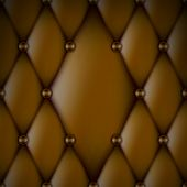 Luxury Brown Leather upholstery with Buttons seamless pattern