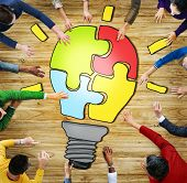 Diverse People with Teamwork and Innovation Concepts