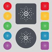 Star sign icon. Favorite button. Navigation symbol. Set colourful buttons Vector