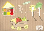 landscape natural product. vector illustration