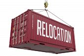 Relocation - Brown Hanging Cargo Container.