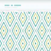 Green ikat diamonds horizontal torn seamless patterns backgrounds