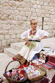 Souvenir Vendor In Dubrovnik's Old City