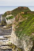 Rocky Cliffs On Coastline Flamborough Head