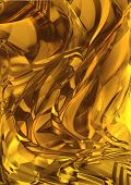 Abstract background with a pattern of chaotic golden brown shades