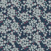 cute little flowers seamless vector pattern.