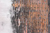 High Resolution Pictures Vintage Orange Pattern Of Brick Wall