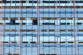 Glass Facade Of Skyscraper Under Construction
