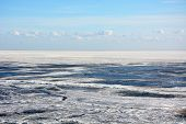 Frozen Sea Shore. View From The Top