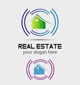 Smart home logo sign icon. Smart house button