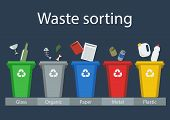 Постер, плакат: Waste sorting for recycling