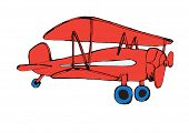 red airplane.vector illustration