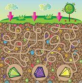 pic of precious stone  - Maze for children  - JPG