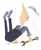 Falling worker