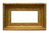Isolated Golden Photo Frame.