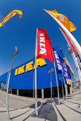 Ikea Flags At The Ikea Samara Store