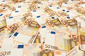 Paper Money Euro. Background Of Banknotes