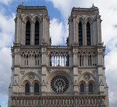 facade of the cathedral Notre Dame de Paris