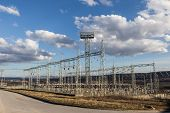 Electric Power Substation Among Nature