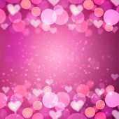 heart bokeh  background