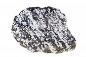 Obsidian Snow Gemstone Isolated On White Background