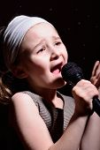 Little girl singing