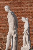 stock photo of vicenza  - Statues on the top of the Basilica palladiana the main monument of the town Vicenza - JPG