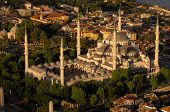 Sultan Ahmet Camii - Blue Mosque In Istanbul, Turkey