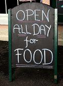 Pub Food Sign