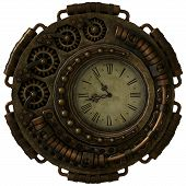 picture of steampunk  - a 3d computer graphics of a clock in Steampunk style - JPG