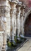 foto of fountains  - Rimondi Fountain in the city of Rethymno on the island of Crete Greece - JPG