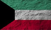 image of kuwait  - Flag of Kuwait with old texture - JPG