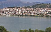 Kastoria traditional old city by the lake at Greece