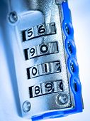 stock photo of combination lock  - Close up lock combination padlock device background - JPG