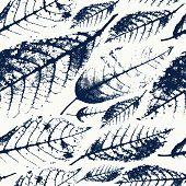 Foliage Herbarium Seamless Pattern